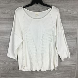 Westbound White Boat Neck Sweater